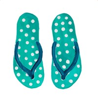 Polka Dot Flip Flops I Fine Art Print