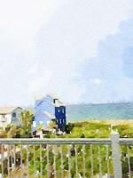 Watercolor Coastal Cottage Fine Art Print