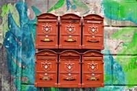 City Mail Boxes Fine Art Print