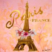 Gold Paris Eiffel Fine Art Print