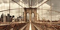 Brooklyn Bridge (sepia) Fine Art Print