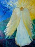 Glowing Angel of Love Fine Art Print
