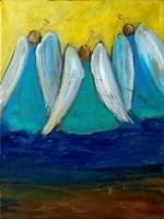 Three Trumpeting Angels Fine Art Print