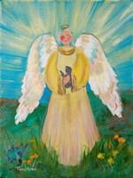 Purrfectly Heavenly Angel Fine Art Print