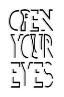 Open Your Eyes Fine Art Print