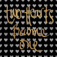 Two Hearts Become One Pattern Fine Art Print