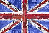 Uk Flag License Plate Fine Art Print