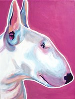 Bull Terrier - Bubble Gum Fine Art Print