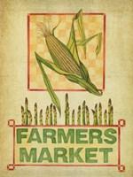 Summer Farmers Market Vintage Fine Art Print