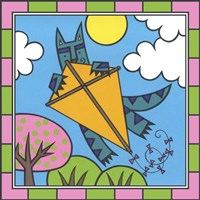 Max Cat Kite 2 Fine Art Print