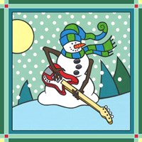 Coalman The Snowman Bass 1 Fine Art Print