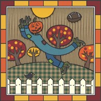 Stitch The Scarecrow Football 1 Fine Art Print