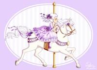 Carousel Purple Fine Art Print