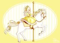 Carousel Yellow Fine Art Print