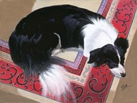 Dog on a Rug Fine Art Print