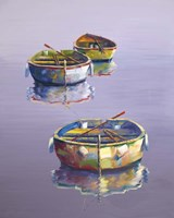 3 Boats Purple Fine Art Print