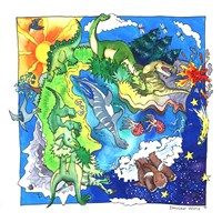 Dinosaur World Fine Art Print