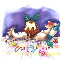 Christmouse Pudding Fine Art Print