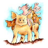 Piggy Back Fine Art Print