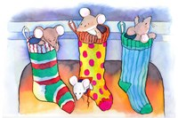 Christmouse Stockings Fine Art Print