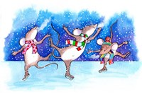 Mice Skating Fine Art Print