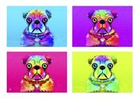 Pug Psychodelic Poster XXXII Fine Art Print