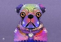 PUG Purple XXXIII Fine Art Print