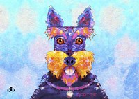 Scottie Dog L Fine Art Print