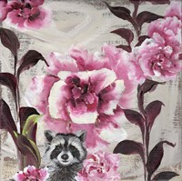 Hiding Racoon Fine Art Print