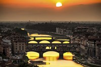 Sunset in Florence Fine Art Print