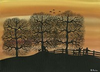 Silhouetted on the Hill Fine Art Print