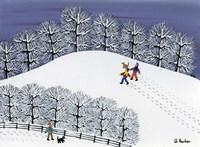 Snow Treck Fine Art Print