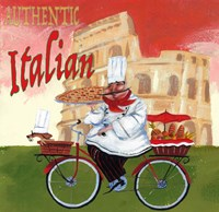 Bike Chef Colosseum Olive Fine Art Print