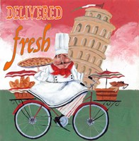 Bike Chef Pisa Green Fine Art Print