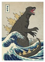 The Great Monster off Kanagawa Framed Print
