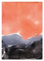 Orange Blue Graphite Fine Art Print