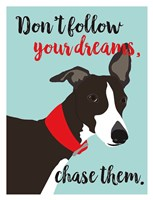 Don't Follow Your Dreams, Chase Them Fine Art Print