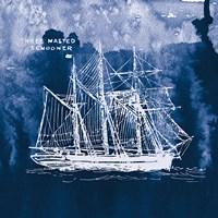Sailing Ships II Indigo Fine Art Print