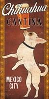 White Chihuahua on Red Fine Art Print