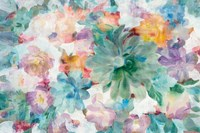 Succulent Florals Crop Fine Art Print