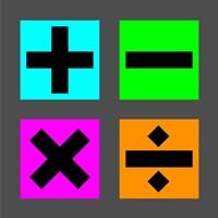 Math Symbols Square - Colorful Boxes Fine Art Print