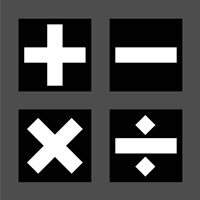 Math Symbols Square - Black Fine Art Print