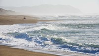 A Walk On The Beach Fine Art Print