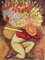 Vendedora de Flores Framed Print