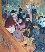 Au Moulin Skelly Fine Art Print