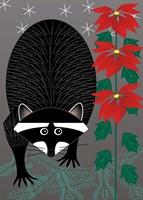 Raccoon Xmas Fine Art Print