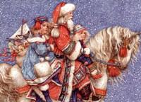 Santa and Children Fine Art Print