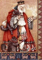 Father Christmas and Cats Fine Art Print