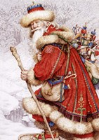 Father Christmas with Toys Fine Art Print