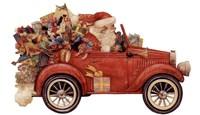 Santa In Car Fine Art Print